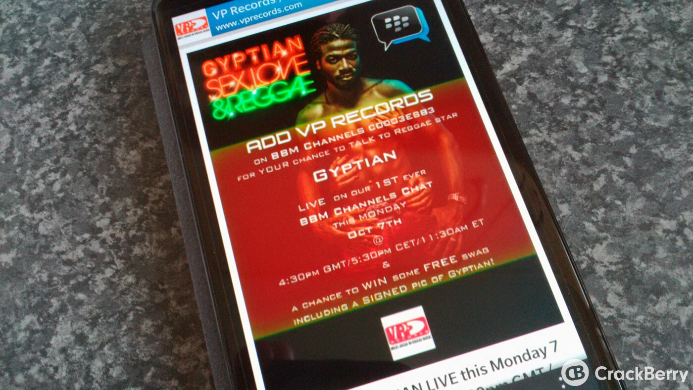 Have a chat with Reggae artist Gyptian on BBM Channels