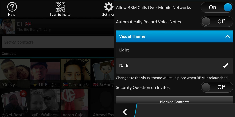 Change Visual Theme for BBM