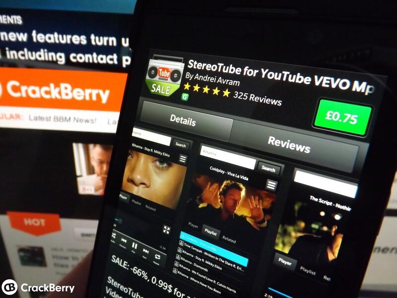 StereoTube for BlackBerry 10