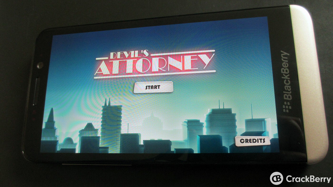 Devil's Attorney now available on the BlackBerry Z30 and goes on sale