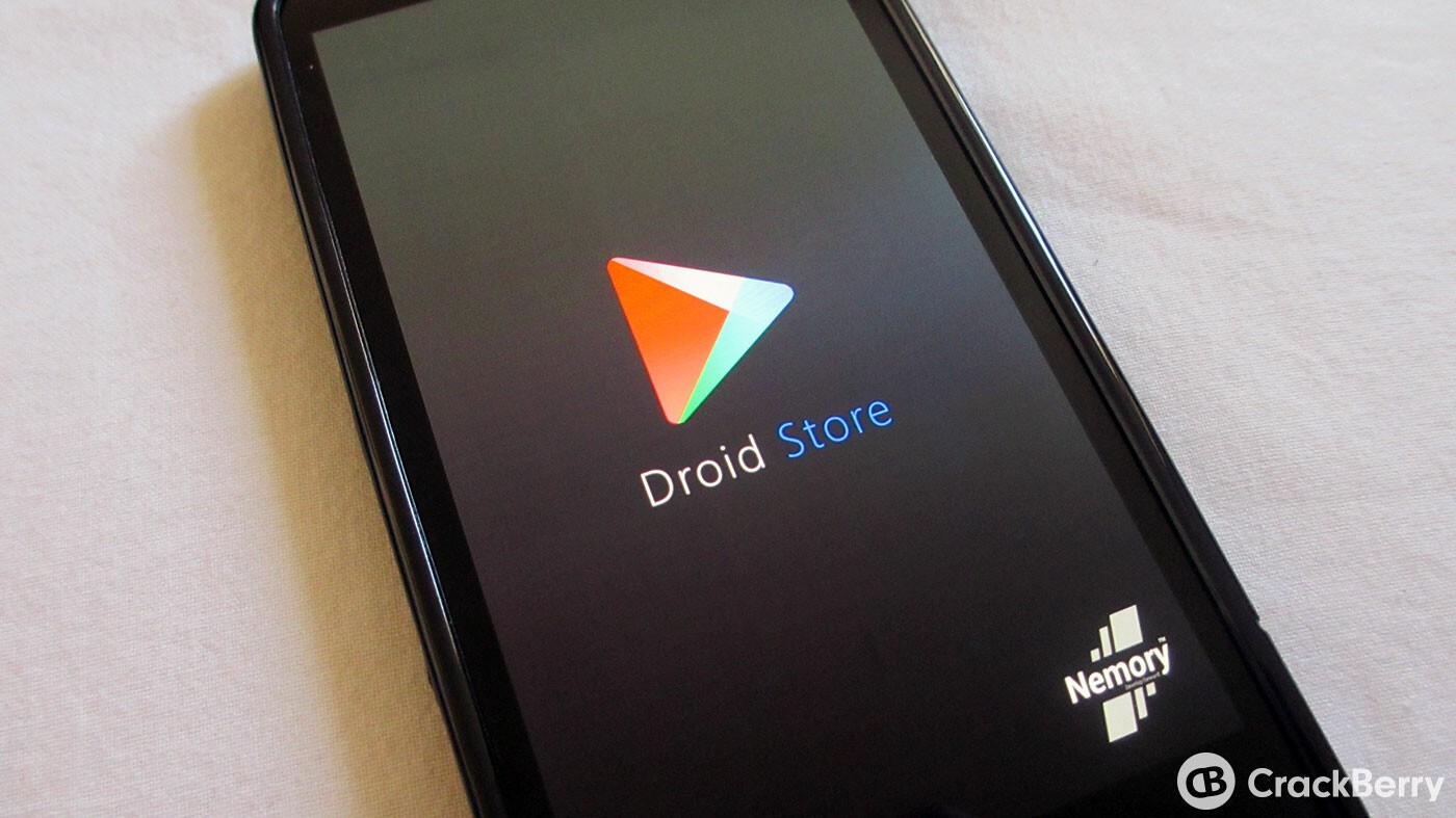 Droid Store - another app that allows you to download APK files to your BlackBerry smartphone