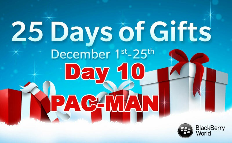 PAC-MAN - Day 10 free gift during BlackBerry's 25 Days of Gifts