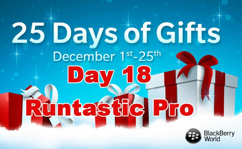 Runtastic Pro - Day 18 of BlackBerry's 25 Days of Gifts
