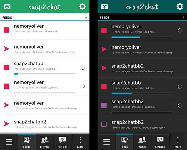Snapchat third-party app Snap2Chat beta updated to v0.8 | CrackBerry ...