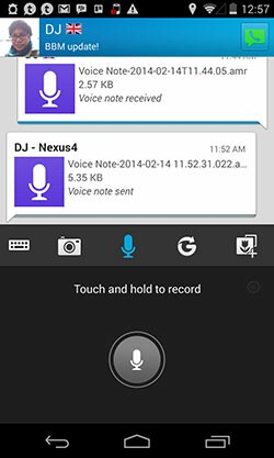 BBM 2.0 Push-to-talk