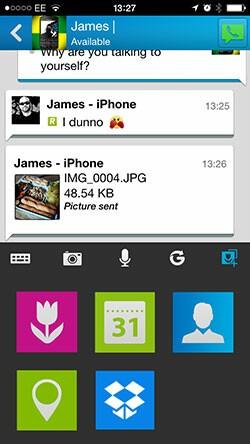 BBM 2.0 iOS file attachment