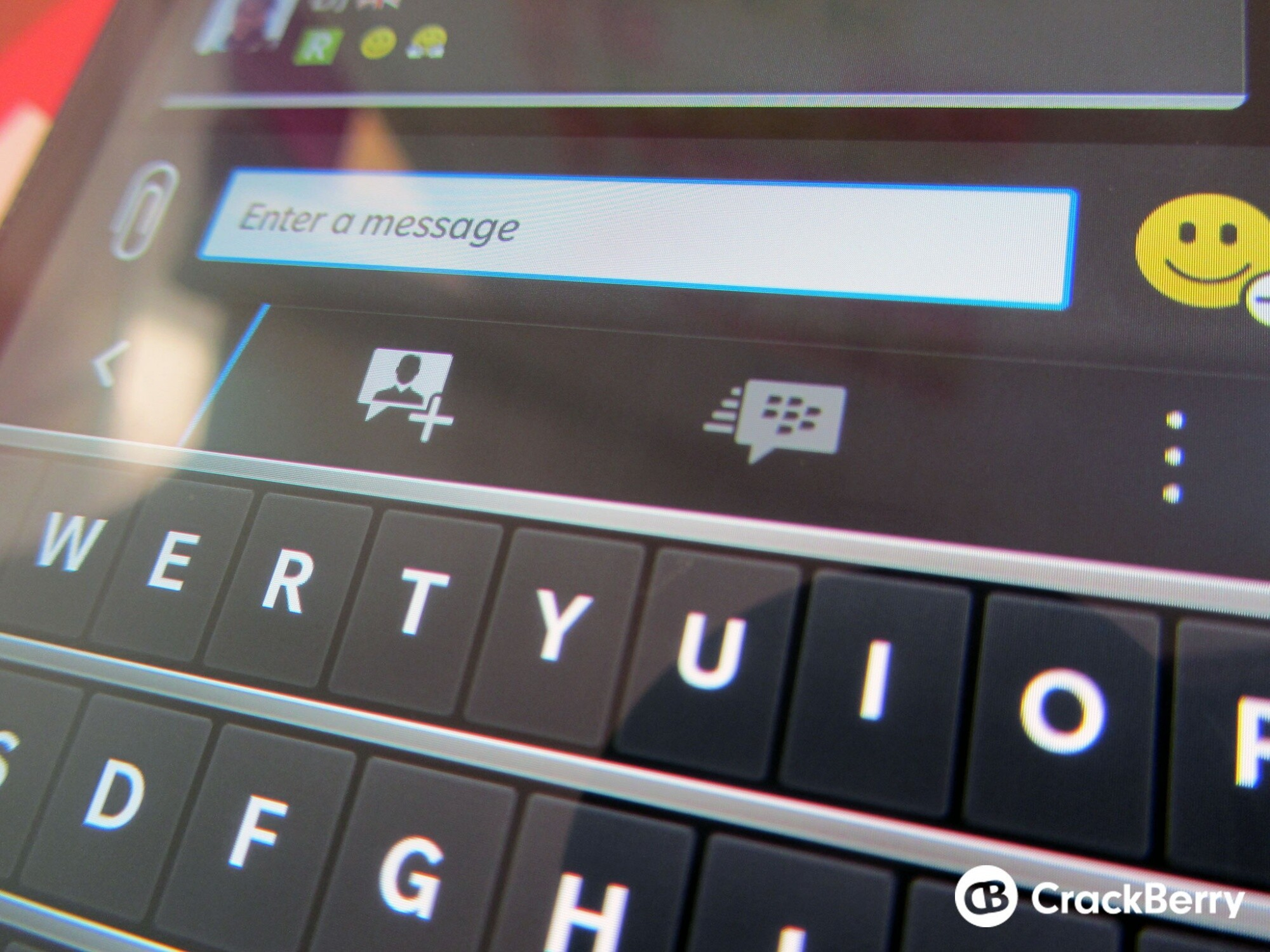 How to remove the action bar in the latest BBM update