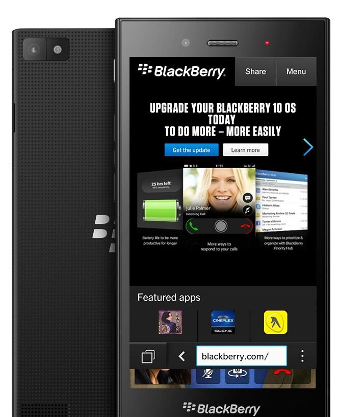 BlackBerry Z3 Render