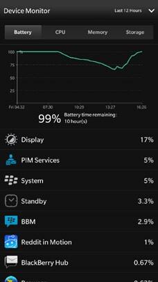 Device Monitor Battery Status