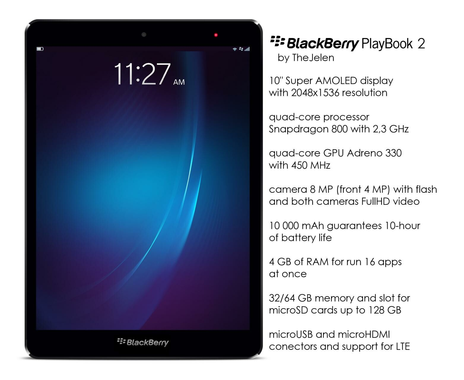 What features would your ultimate BlackBerry PlayBook 2 have