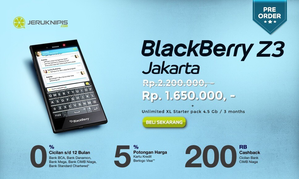 BlackBerry Z3 pre orders ramping up in Indonesia