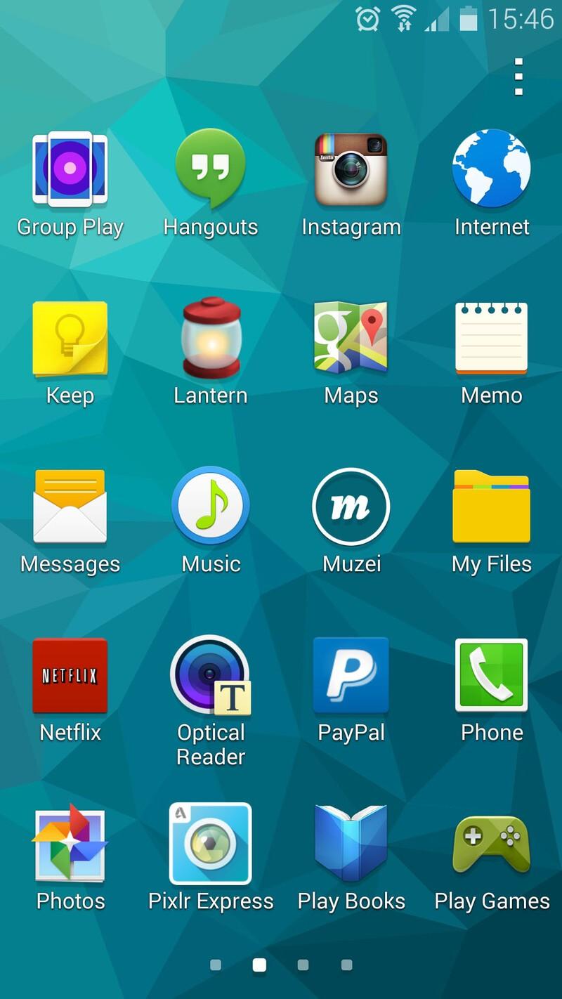 Samsung Galaxy S5 app drawer