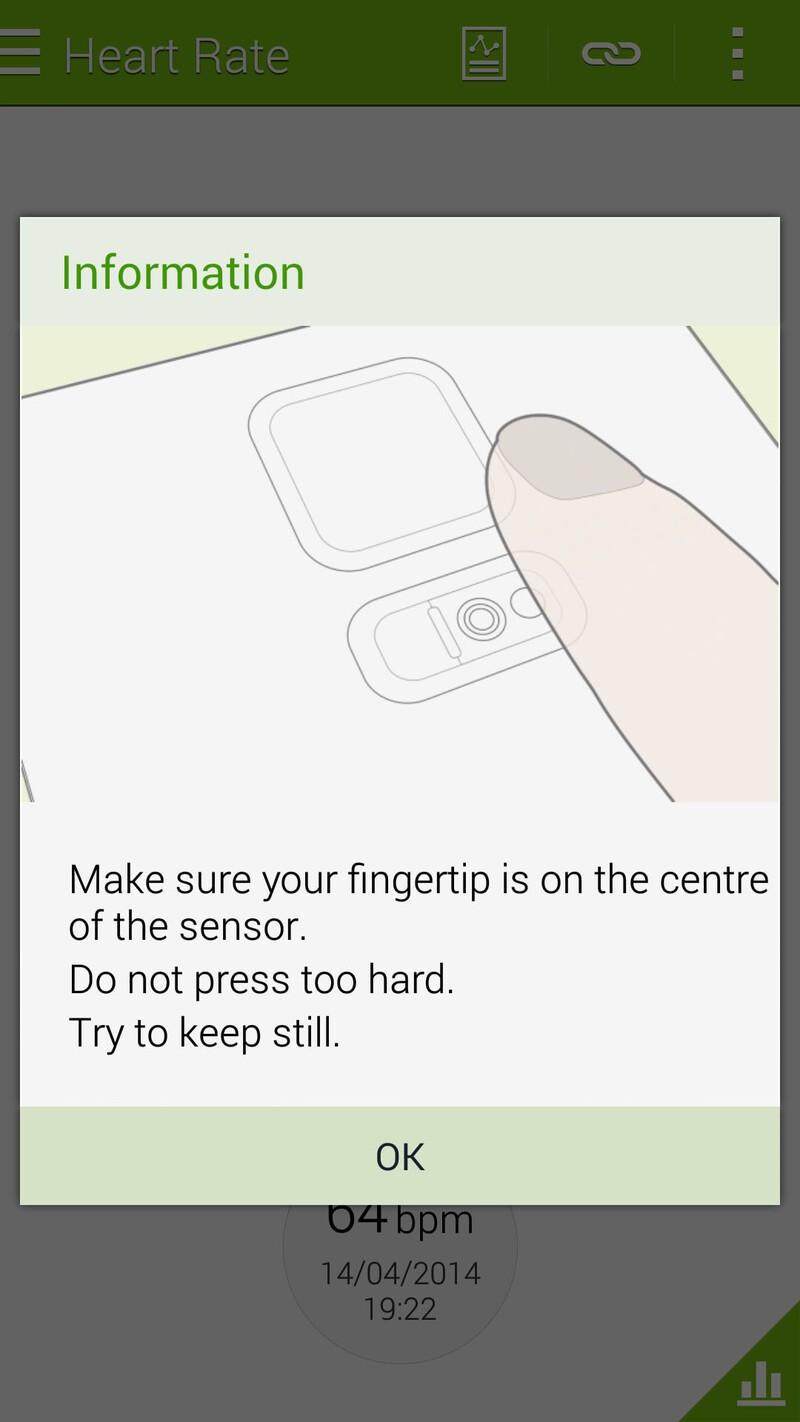 Samsung Galaxy S5 heartrate sensor tutorial