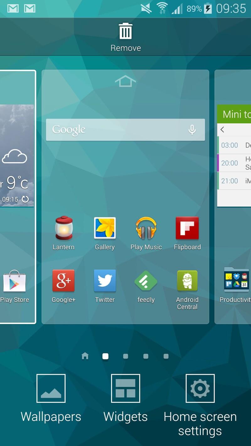 Samsung Galaxy S5 launcher edit