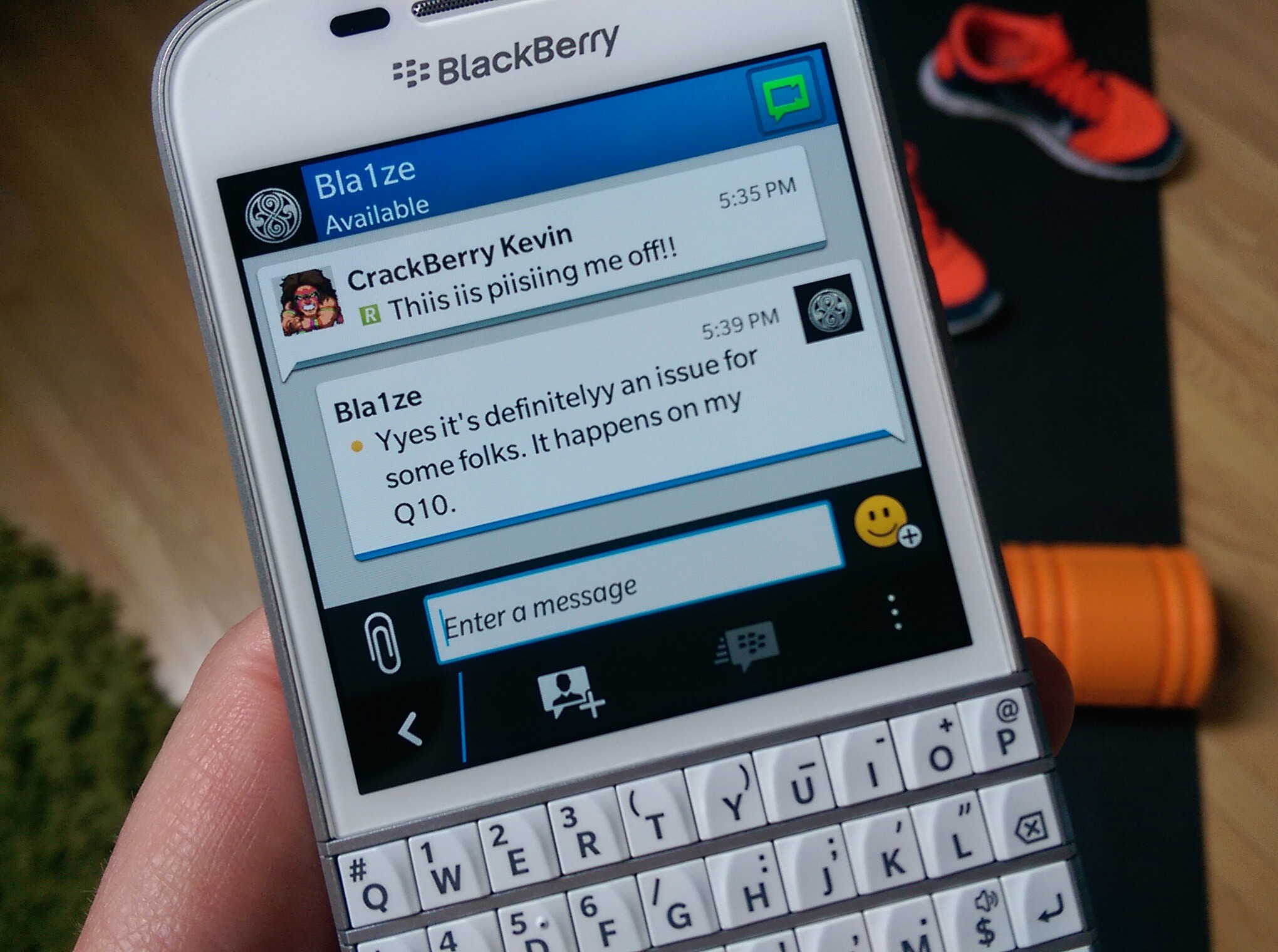 Double Typing Issue BlackBerry Q10