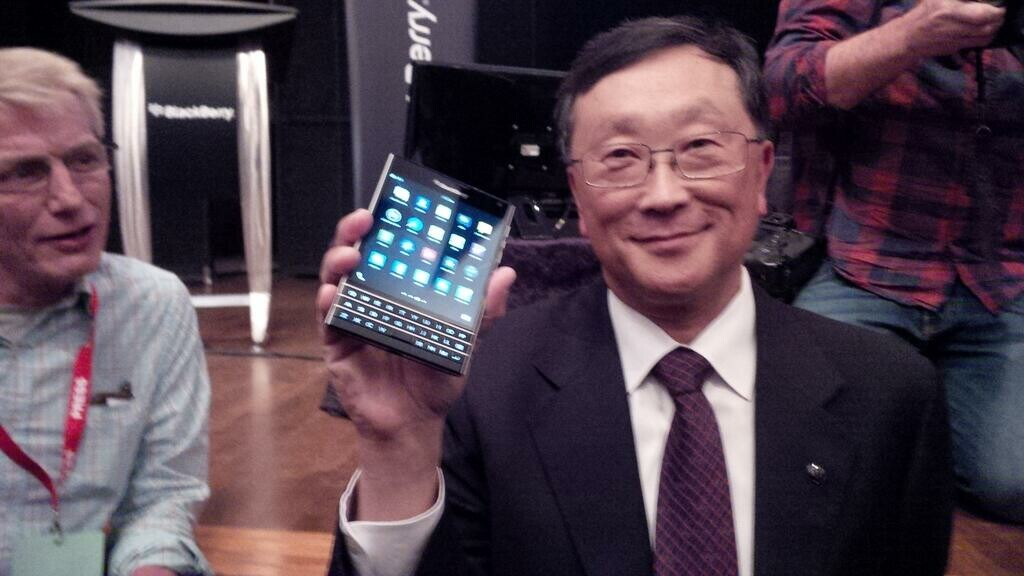 The BlackBerry Passport and Classic in Hands of John Chen