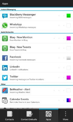 BeBuzz app selection