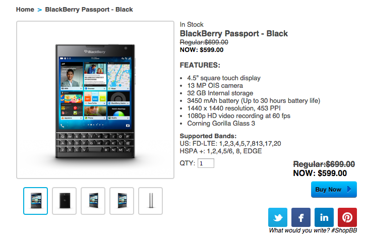 BlackBerry Passport now available for $599 | CrackBerry.com