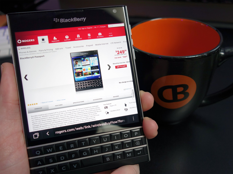 Win a BlackBerry Passport!