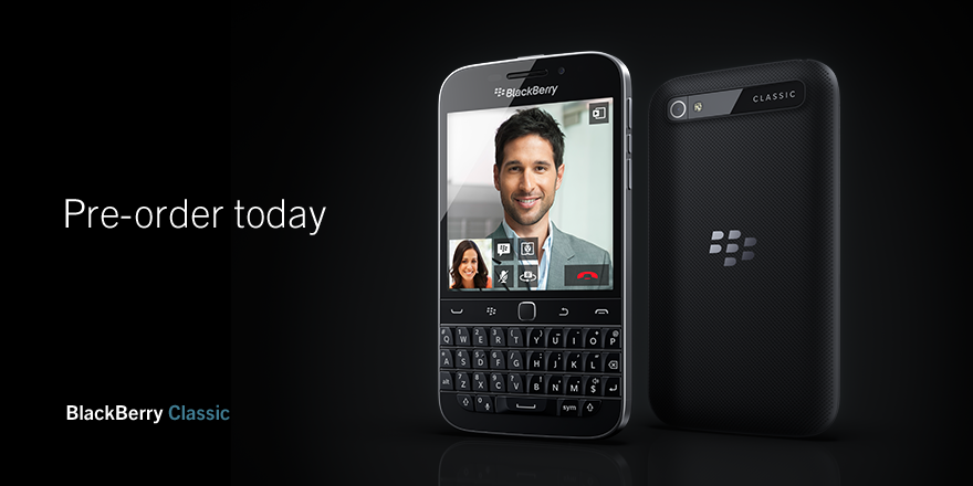 BlackBerry Classic preorders now live