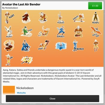 Avatar last air bender bbm sticker pack