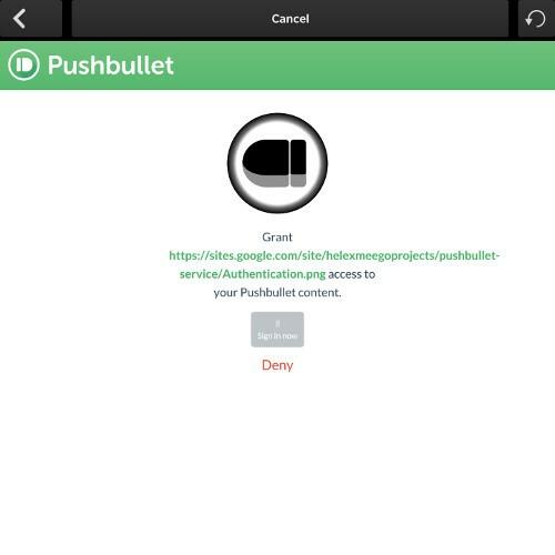 BlackBullet sign in screen