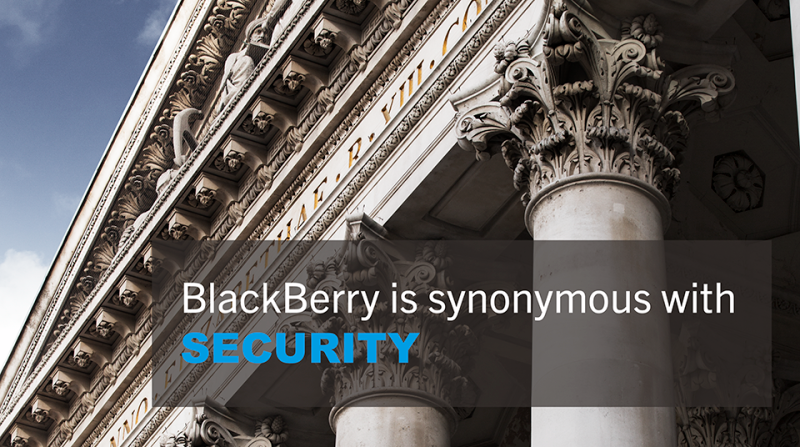 BlackBerry is synonymous with security