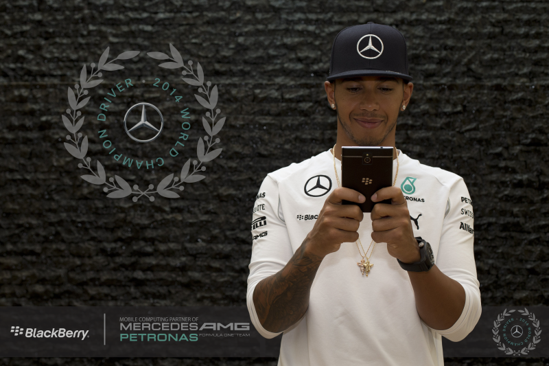 2014 FIA Formula One World Drivers' Champion, Lewis Hamilton