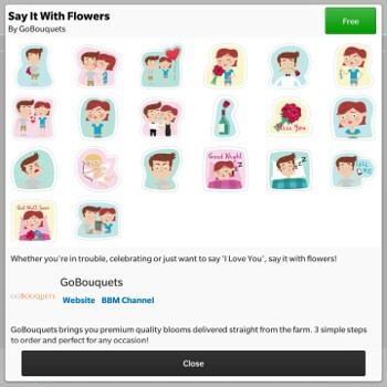 Say It with Flowers BBM Sticker Pack