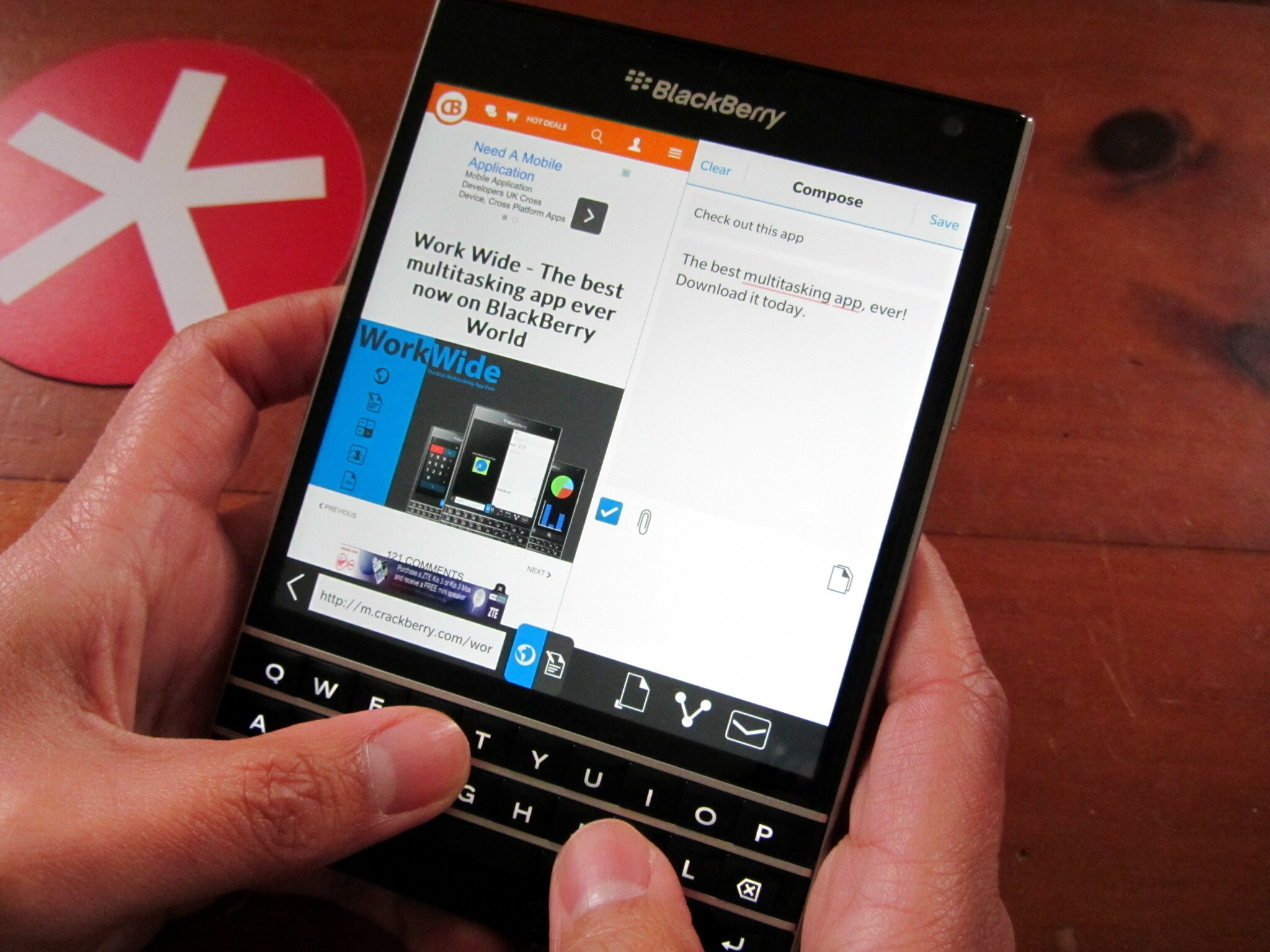 Increase your productivity with Work Wide for the BlackBerry Passport