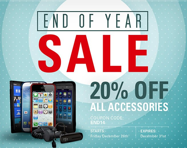 End of Year Sale: 20% off all BlackBerry accessories!