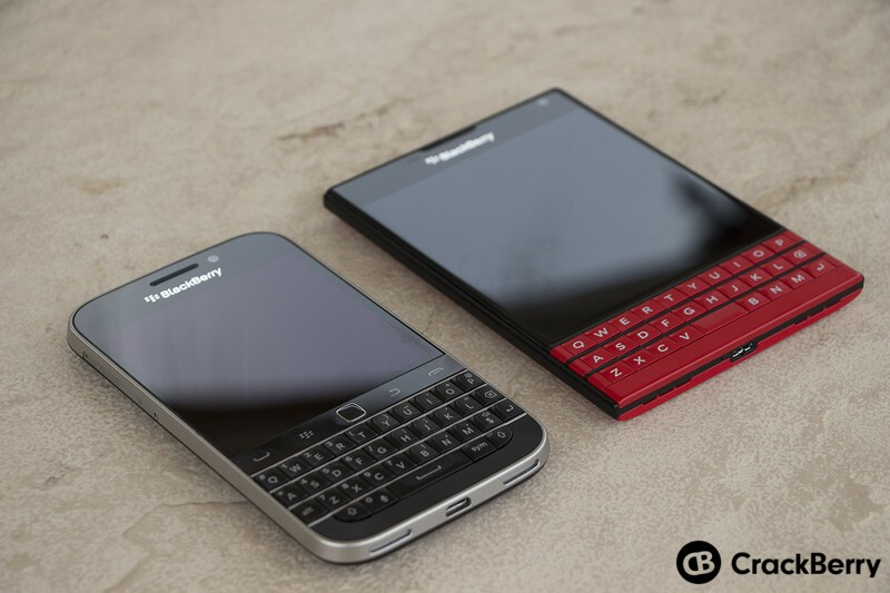 BlackBerry PassPort and BlackBerry Classic