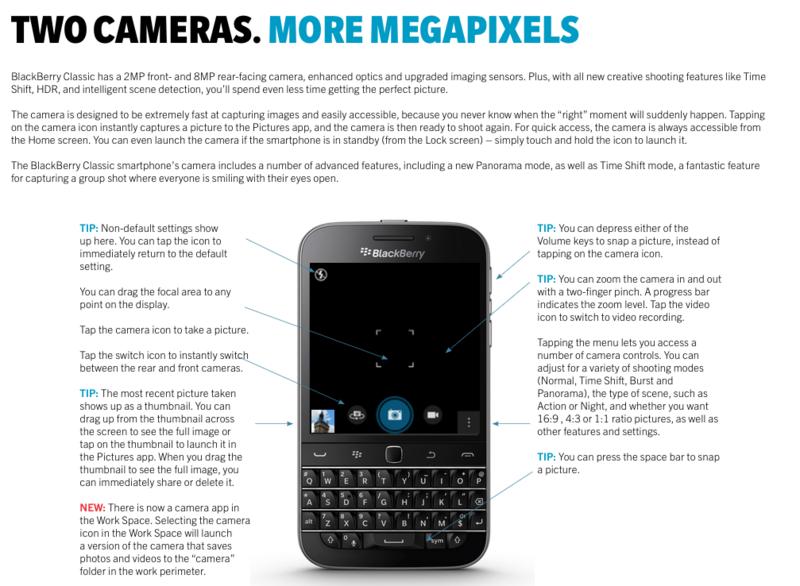 BlackBerry Classic Camera Highlights