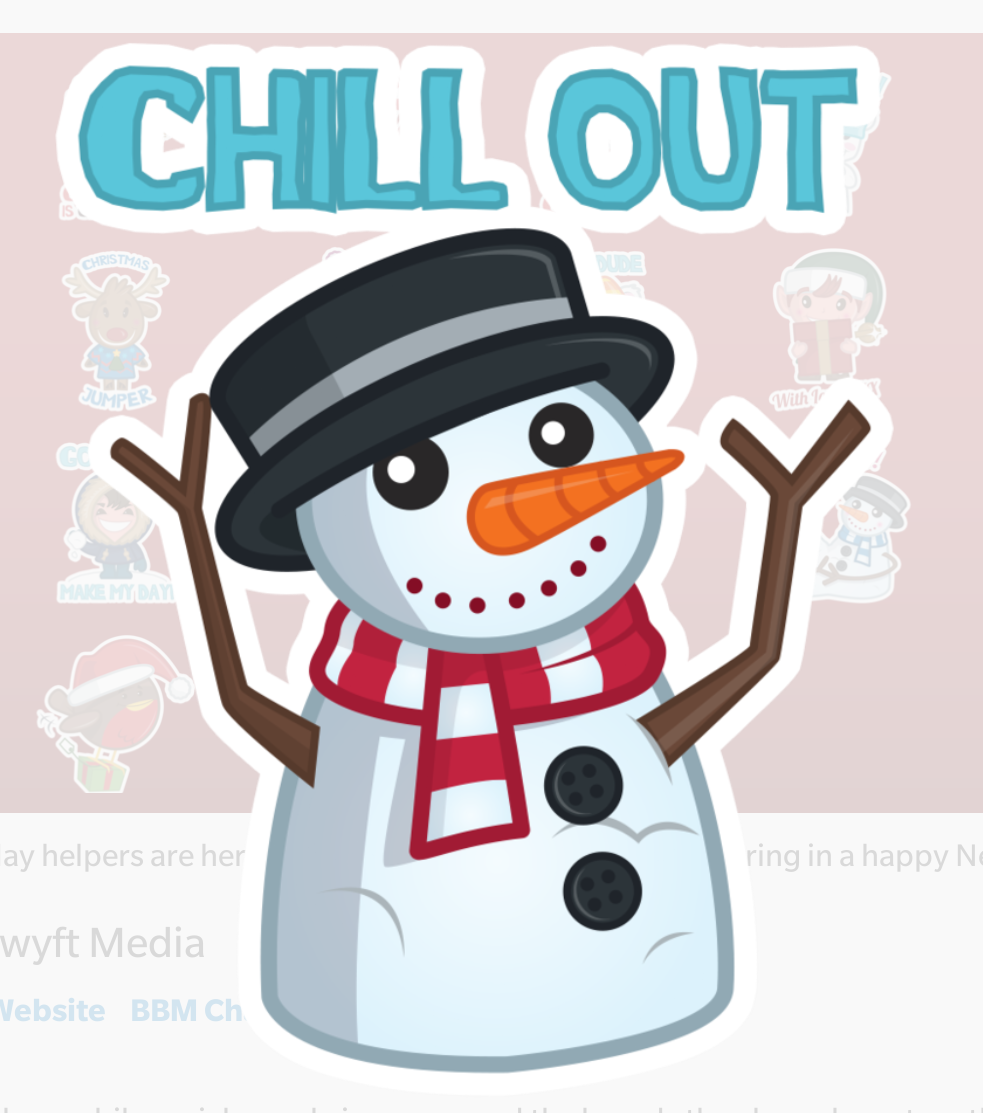 Happy Holidays sticker pack now available for free!