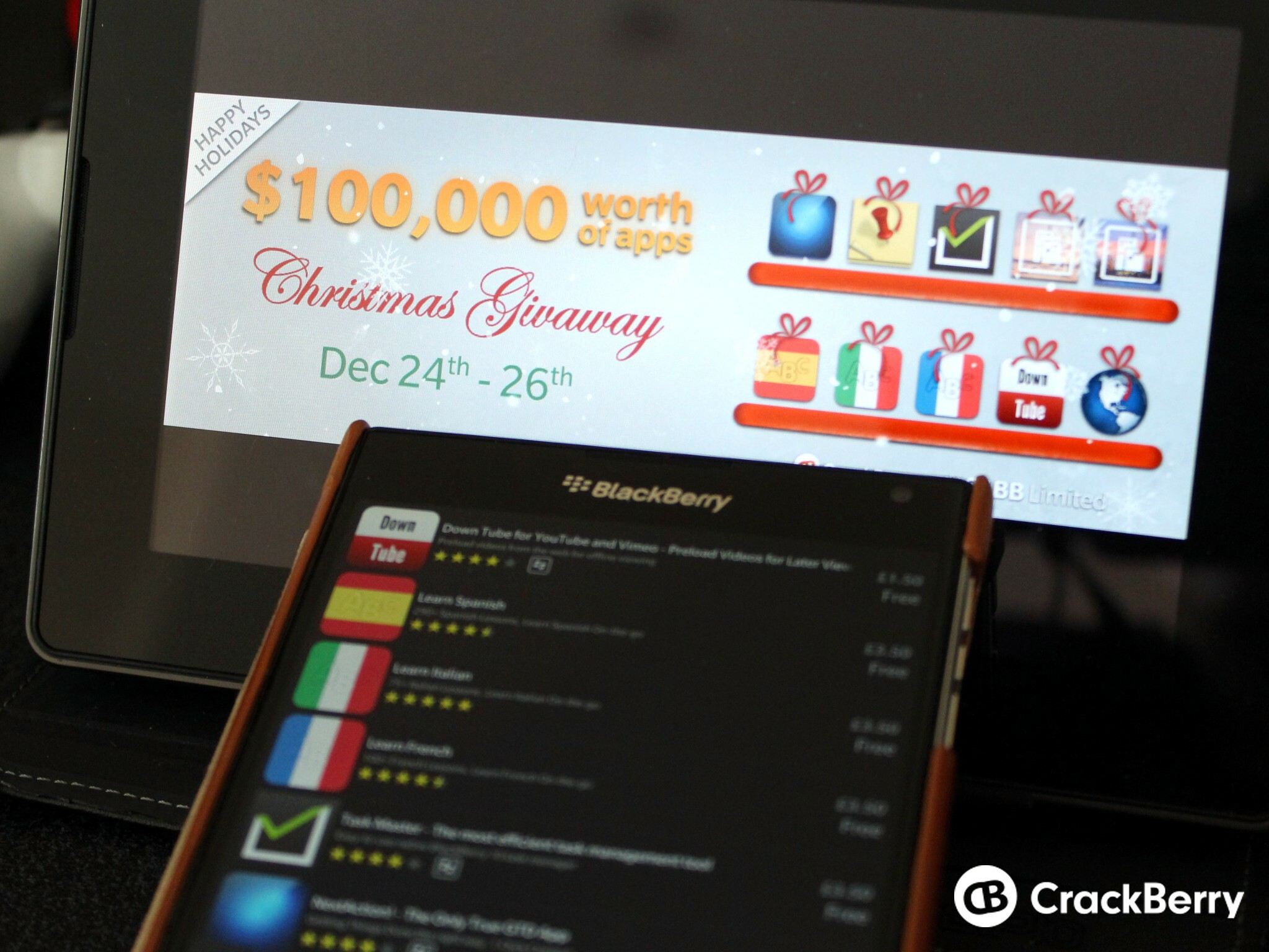 Get yourself some free apps with the S4BB Christmas giveaway