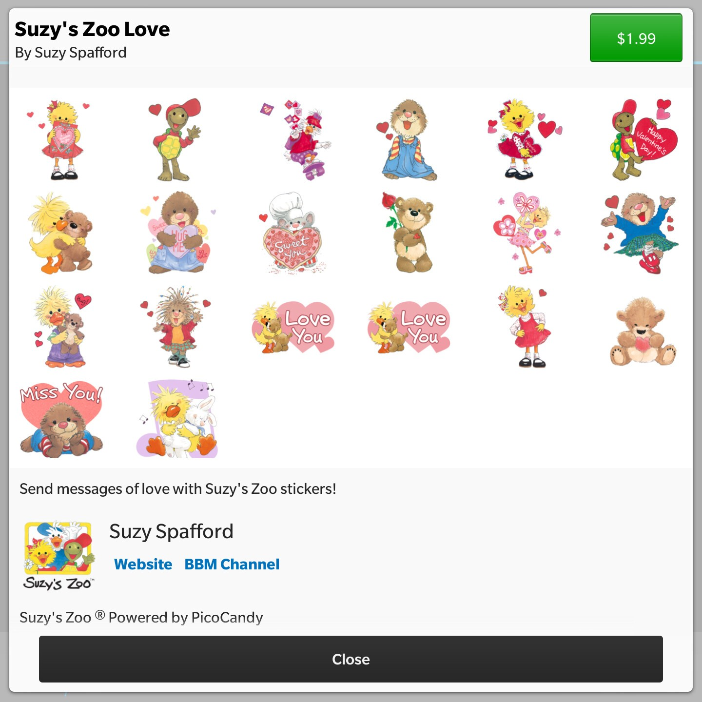 Valentine's Day BBM sticker packs now available in the BBM Shop