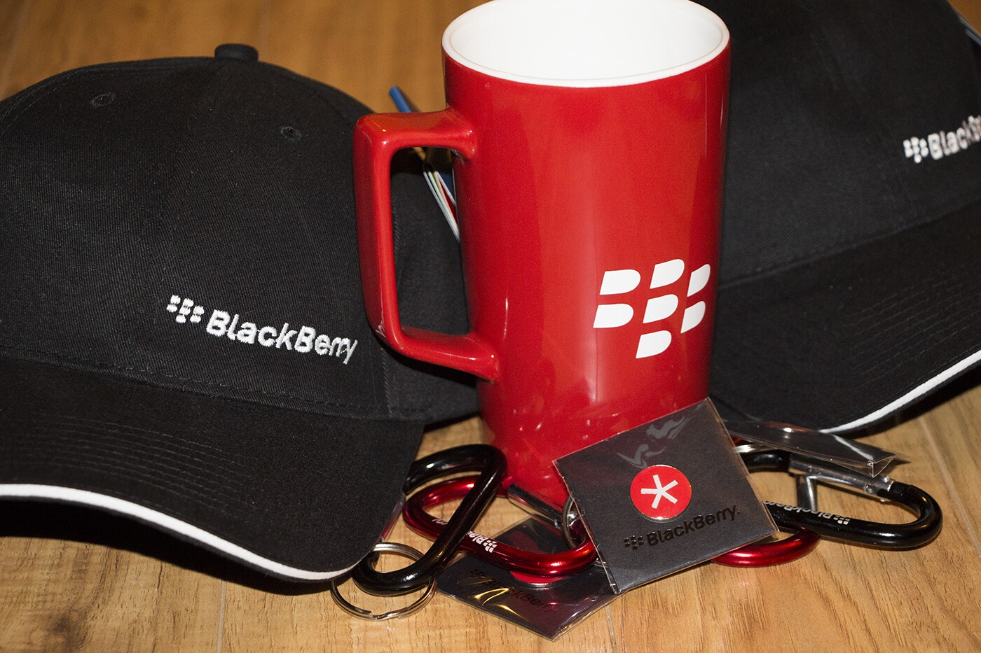 Want to win some BlackBerry goodies? Enter now to win some hats, mugs and more!