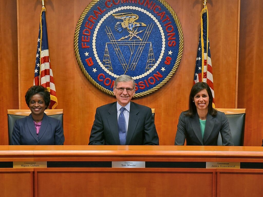 FCC Board Members smile for the camera