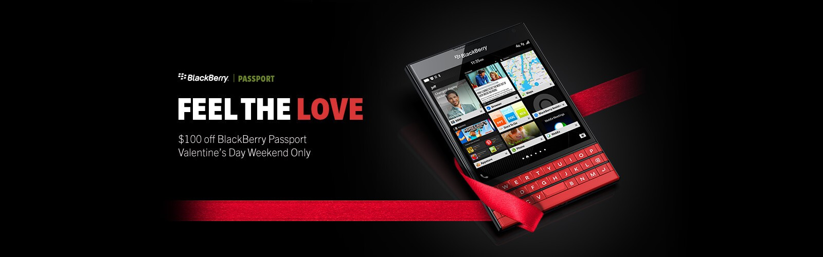 Buy a BlackBerry Passport and save 00 from now until Feb. 16