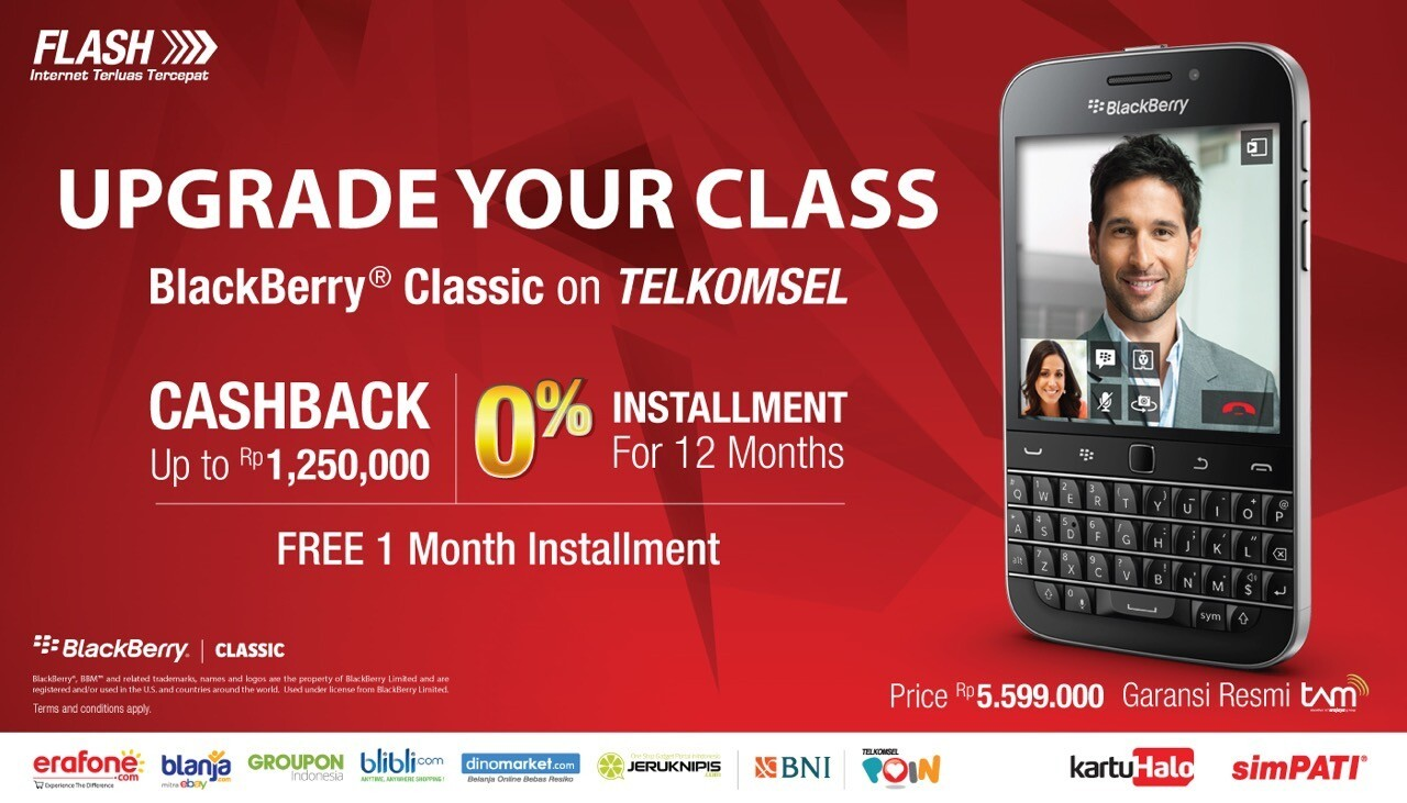 Telkomsel now taking pre-orders for the BlackBerry Classic