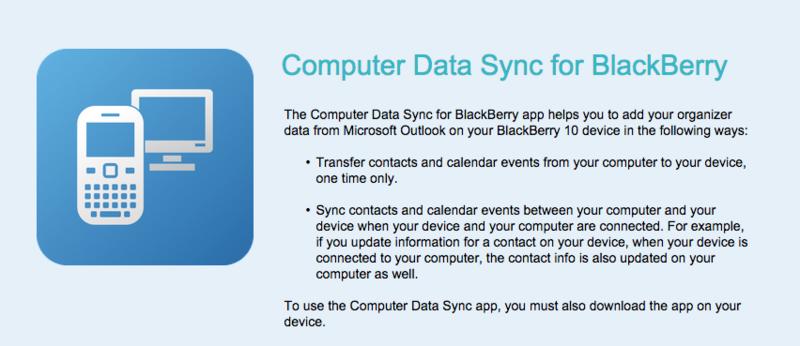 BlackBerry Computer Data Sync app enters the Beta Zone