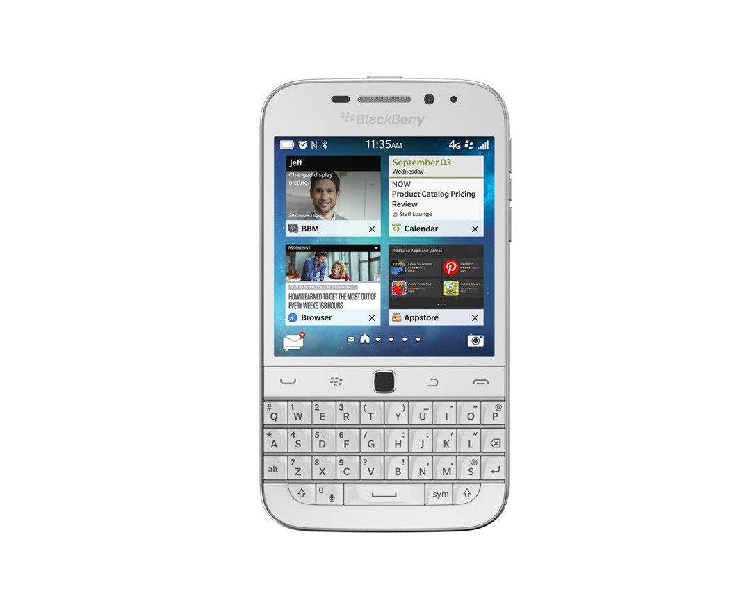 BlackBerry Classic in white will begin rolling out this week