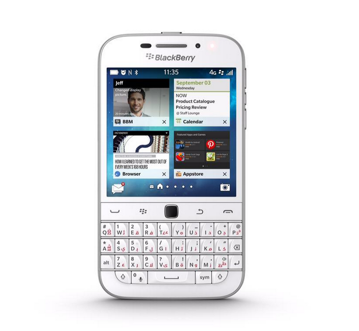 White BlackBerry Classic now available in the UAE