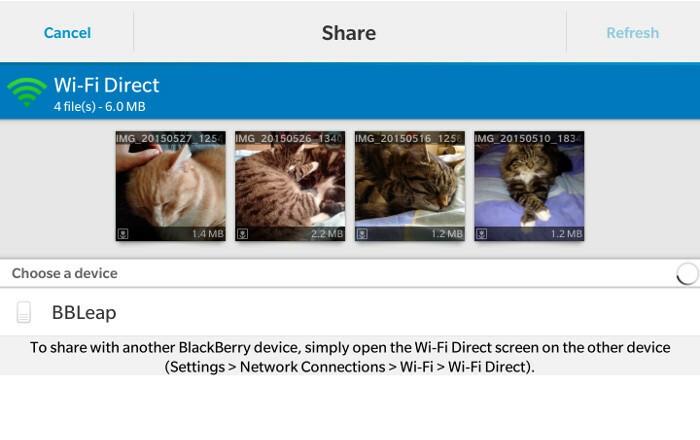 Wi-Fi Direct Share Card