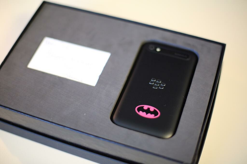 John Chen hooks John Legere up with a Batman inspired BlackBerry Classic for his birthday