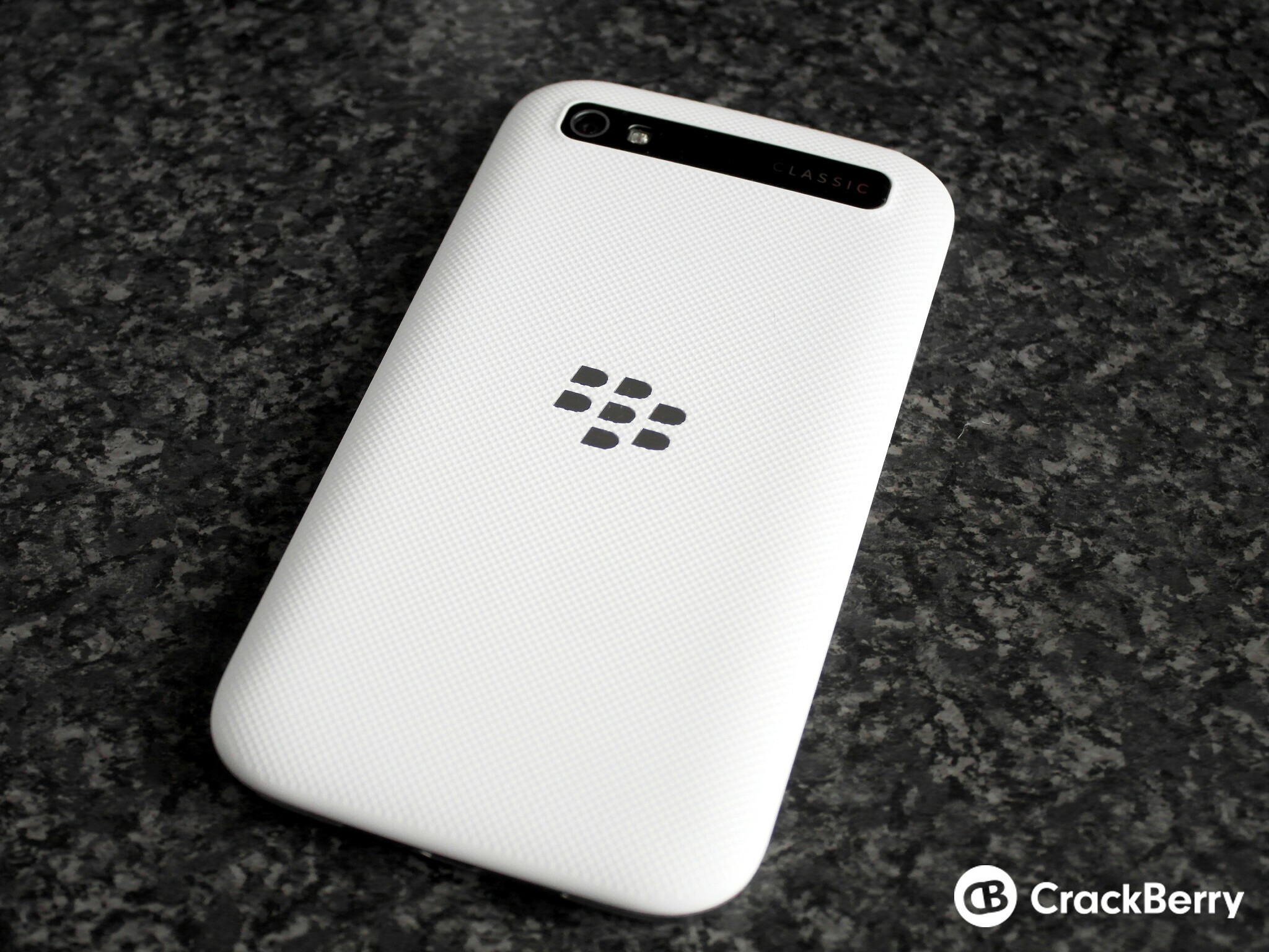 BlackBerry Classic White back view