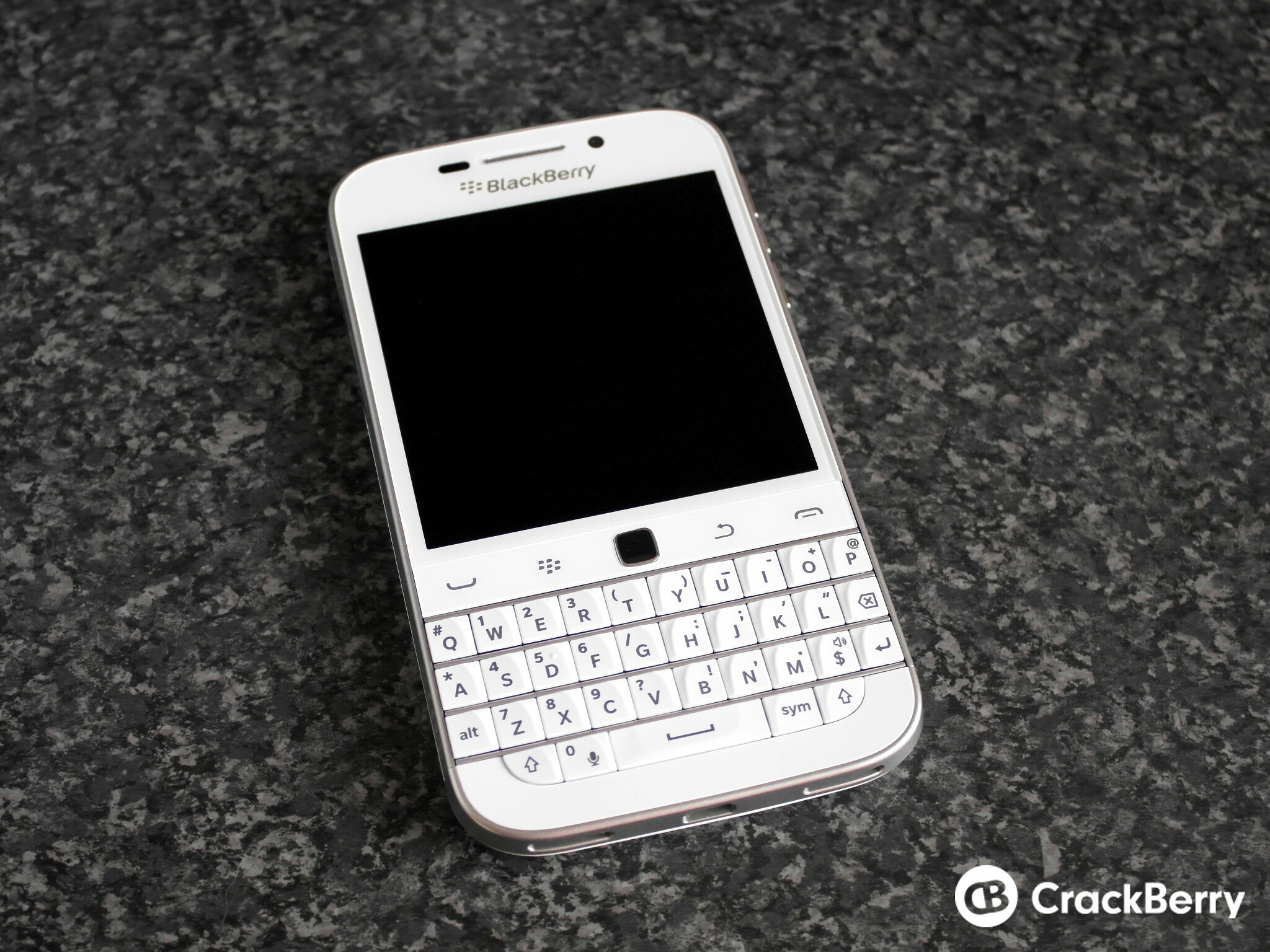 BlackBerry Classic White front view
