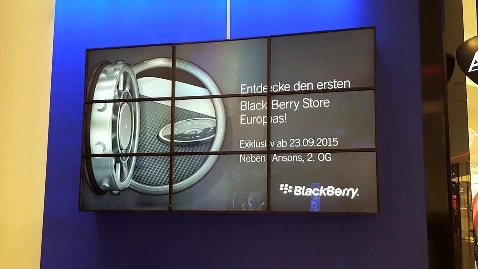 BlackBerry preparing to open its first pop-up store in Germany on September 23