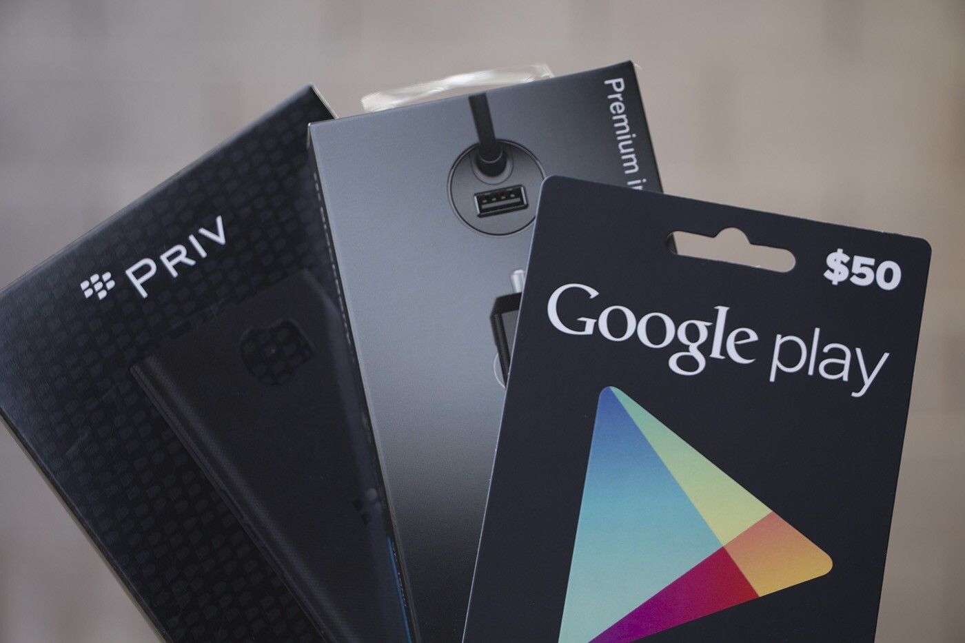 Enter now to win BlackBerry Priv accessories and a $50 Google Play giftcard!