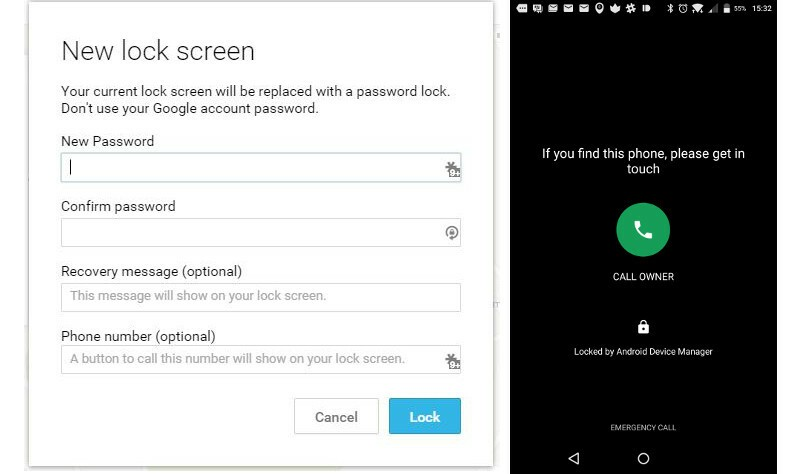 Android Device Manager Lock option